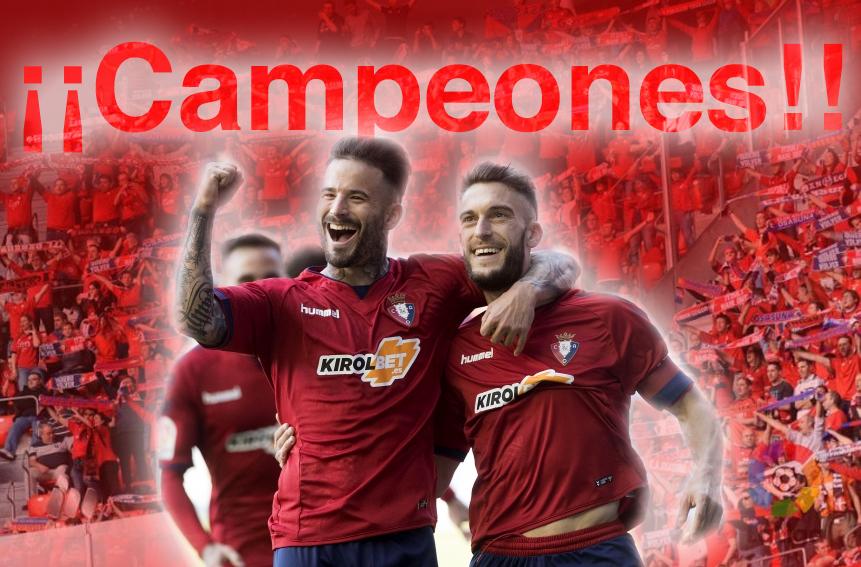 Osasuna, campeón de Segunda División